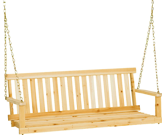 "Jack Post Classic Natural Finish Porch Swing, 49""x21.75""x17.5"""