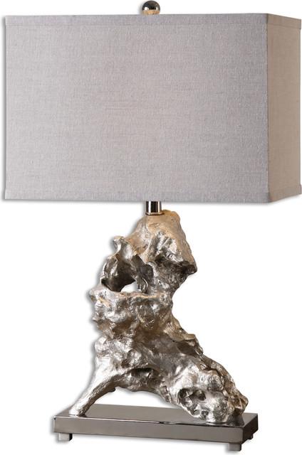Uttermost Rilletta Metallic Table Lamp Silver Contemporary Lamps