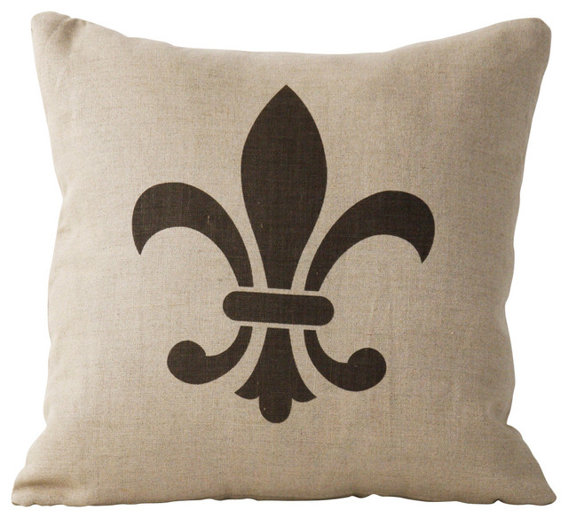 Fleur De Lis Pillow Traditional Decorative Pillows Other By