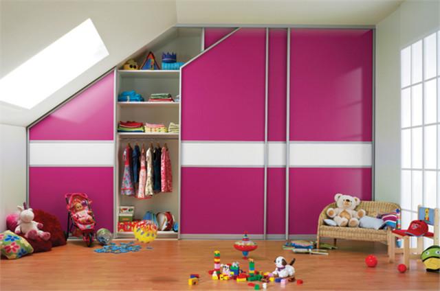 Sliding Door Wardrobe for Children's Bedroom in Loft Attic Conversion