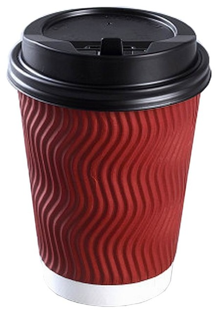 Coffee Cups With Lids Disposable Paper