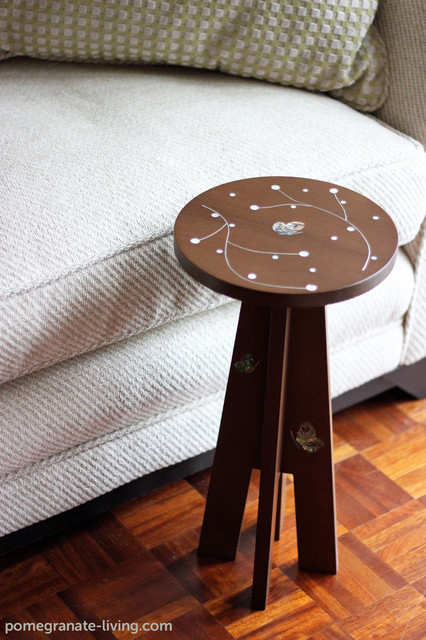 Nada Debs Mini Table with Butterfly Pattern contemporary-side-tables-and-end