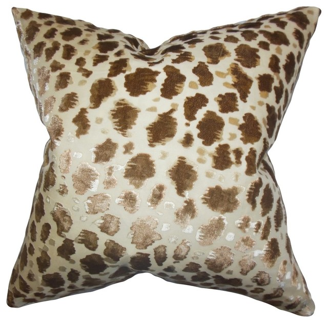 Hepzibah Animal Print Pillow - Contemporary - Decorative Pillows - by The Pillow Collection