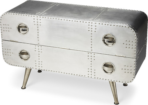 Midway Aviator Console Chest - Silver