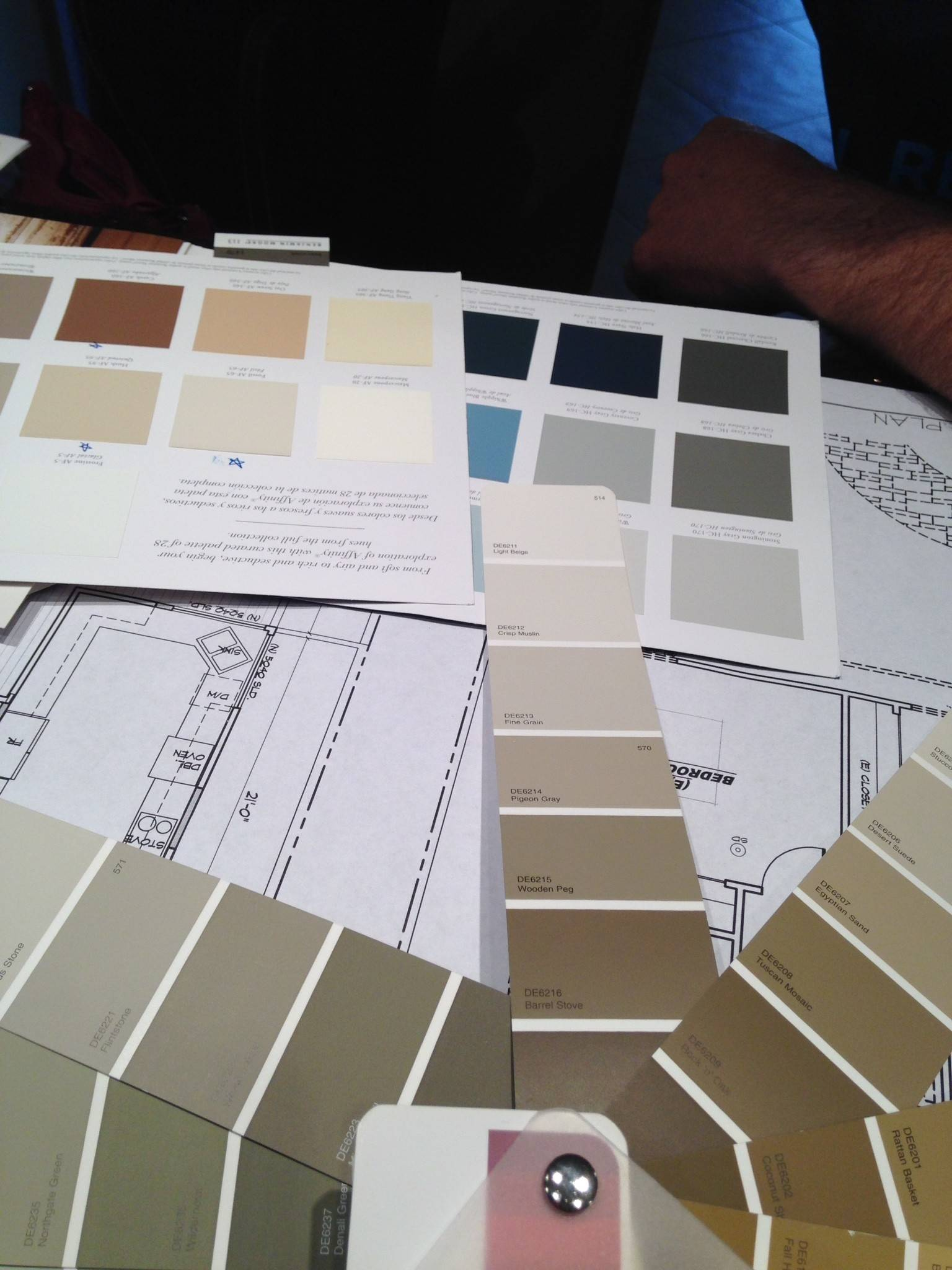 Color inspiration direction for living,dining & entry