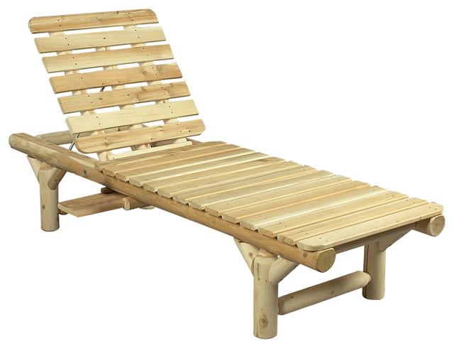 White Cedar Wooden Lounge Chair