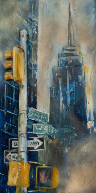 Empire State Building, Original, Painting - Paintings - by ...