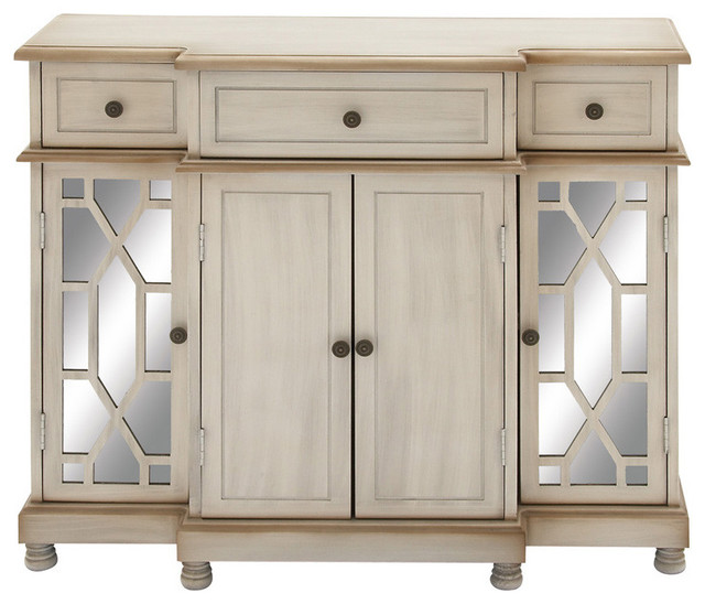 Uma Inc Wood Mirror Cabinet 42x35 Accent Chests And