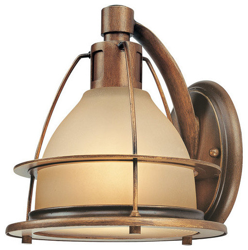 Not On The High Street Industrial Wall Light : 1 Light Standard Bulb Wall Sconce, Sunset Bronze - Industrial - Wall Sconces - by 1800Lighting