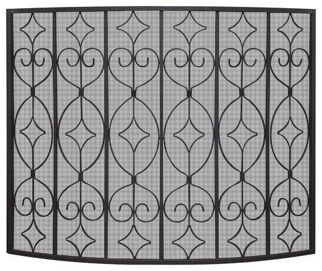 Single Panel Ornate Screen.