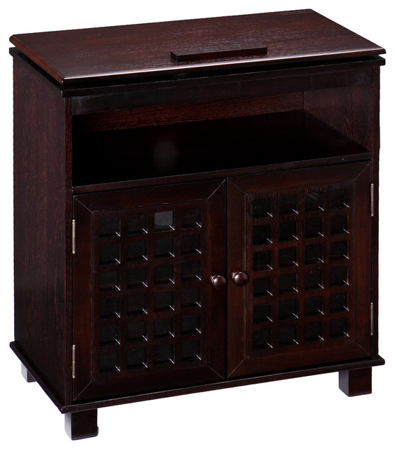 Holly & Martin Akita Swivel Top Media Stand, Espresso - Contemporary - Entertainment Centers And ...