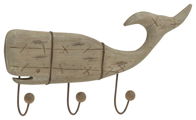 wood whale wall hook modern wall hooks by brimfield may