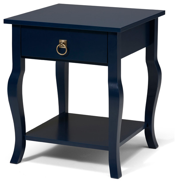 lillian wood side table with curved legs drawer and shelf contemporary bulletin boards and. Black Bedroom Furniture Sets. Home Design Ideas