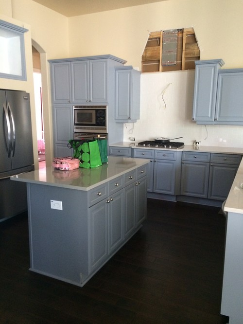Help gray cabinets turned out too blue for Grey kitchen units sale