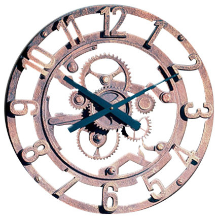 Arabic Gear Wall Clock
