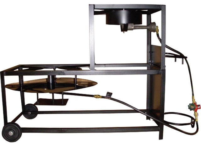"Portable Propane Bolt Together 30"" Frying-Boiling Cart."