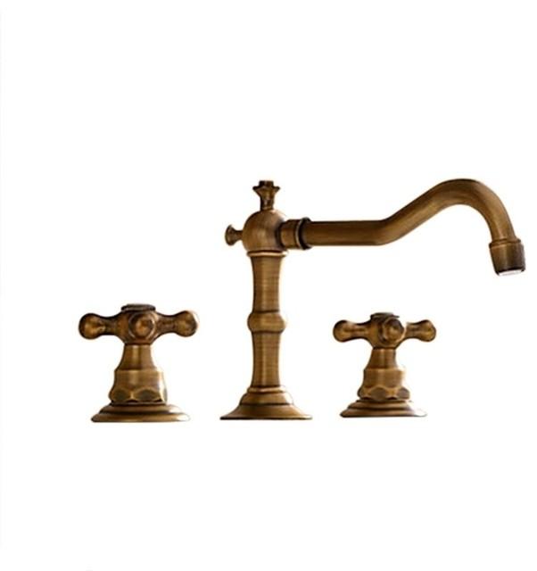 1st Avenue Duke Widespread Basin Faucet Antique Brass