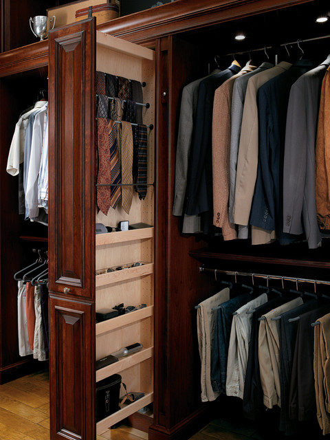 Pullout Tower for Ties and Accessories - Traditional - Closet ...