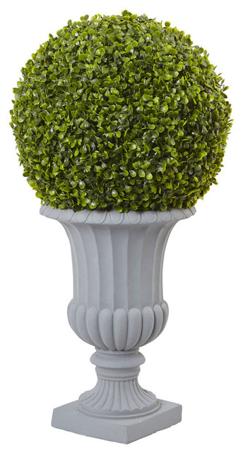 2 5 Boxwood Topiary With Urn Indoor And Outdoor Green