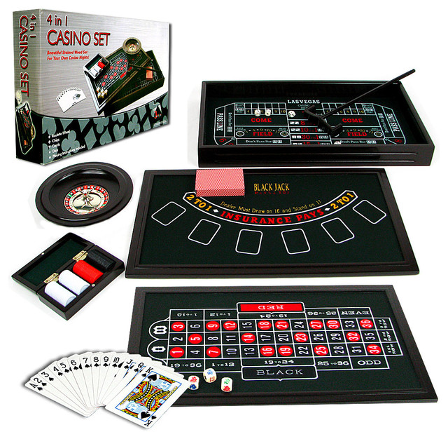 4 In 1 Casino Game Table By Trademark Poker