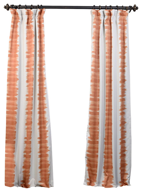 Flambe Blackout Curtain Orange Contemporary Curtains