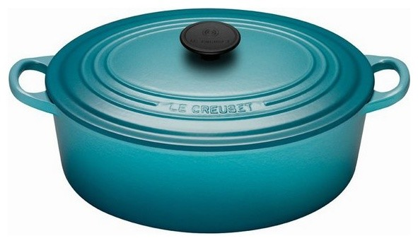 Le Creuset 5-Quart Signature Oval French Oven, Caribbean.