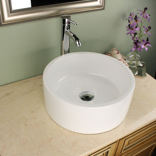 16 inch bathroom sink highpoint collection white 16 inch ceramic bathroom 15255