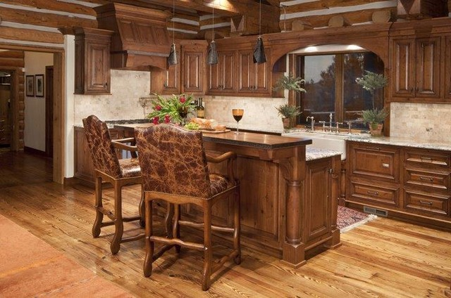 Kitchen - rustic kitchen idea in Other