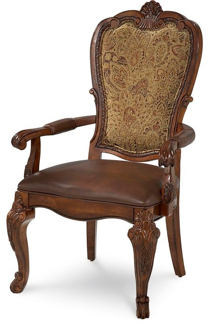 upholstered dining room arm chairs | A.R.T. Furniture Old World Upholstered Back Arm Chair, Set ...