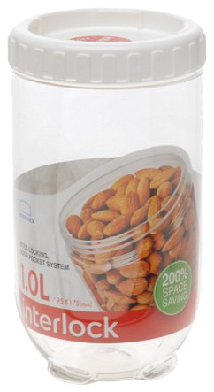 Locku0026Lock Interlock Round Tall Food Container 4.2 Cups Contemporary Food  Storage Containers