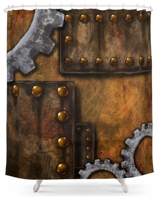 Steam And Souls Shower Curtain Industrial Shower Curtains By Society6