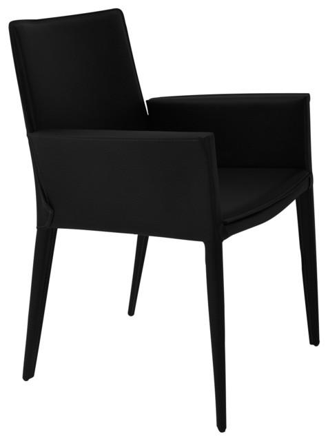 Tiffany Arm Chair Soild Beech Walnut Color Base Black