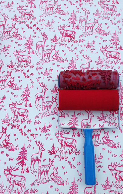 Patterned Paint Roller and Applicator, Aspen Frost