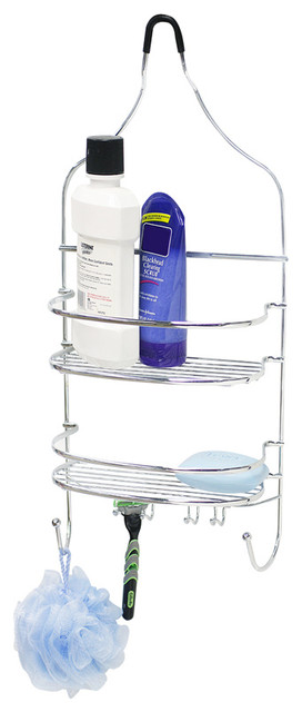 Shower caddy flat wire contemporary shower caddies by home basics - The basics about shower caddies ...