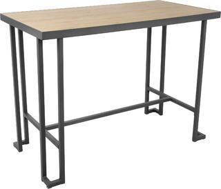Roman Counter Table, Gray and Bamboo