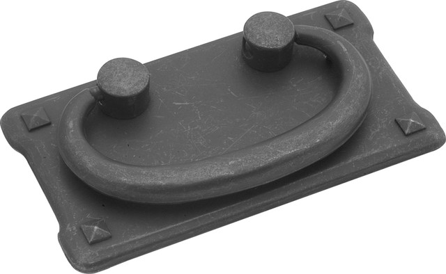 Mission Antique-Style Bail Cabinet Pull, Black Mist - Rustic ...