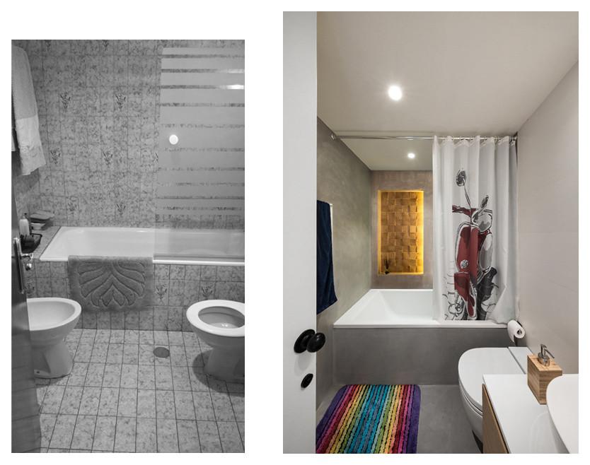 Baño completo, antes y después