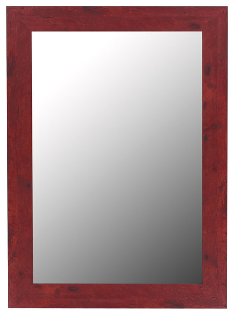 Barn Red Framed Wall Mirror - Transitional - Wall Mirrors - by ...