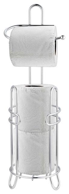 Home Basics 3-Roll Toilet Paper Holder, Stainless Steel