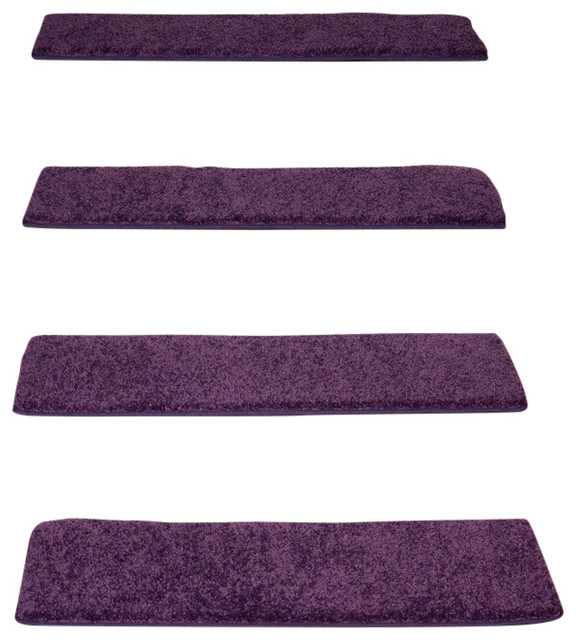 Non-Slip Tape Free Carpet Stair Treads Amethyst Set of 15 contemporary-