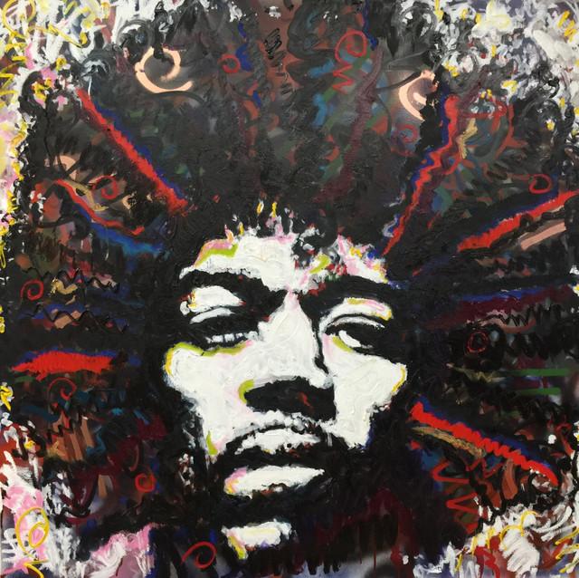 Jimi Hendrix Large Wall Art 36\