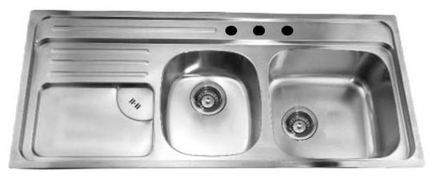 Dawn Ch366 46 Double Bowl Topmount 20 Gauge Stainless Steel Kitchen Sink