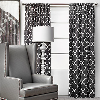 Z Gallerie Mimosa Panels - Charcoal - Curtains | Houzz