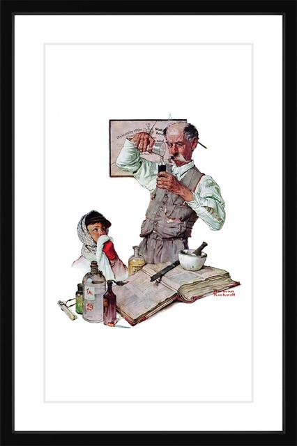 Pharmacist Framed Art Print By Norman Rockwell