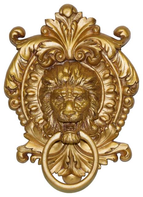 Lion Medallion Towel Holder.