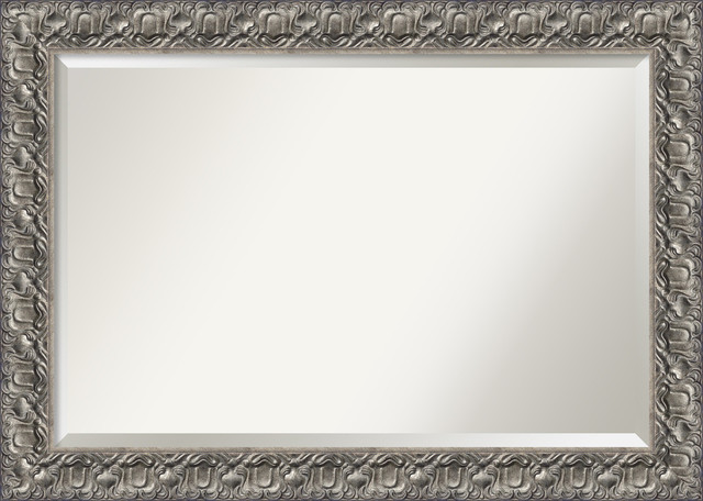 Bathroom Mirror Extra Large Silver Luxor Outer Size 42 X 30 Modern