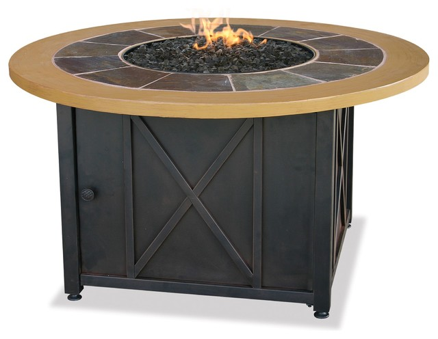 Exceptional Blue Rhino Circular Propane Gas Fire Pit Table Transitional Fire Pits