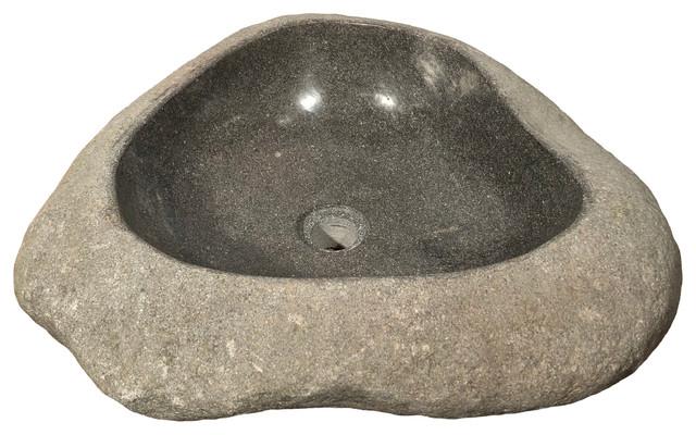 River Rock Boulder Stone Vessel Sink 1