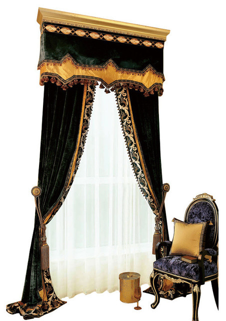 "Luxurious Window Curtain, Velvet Win, 54""x96""."