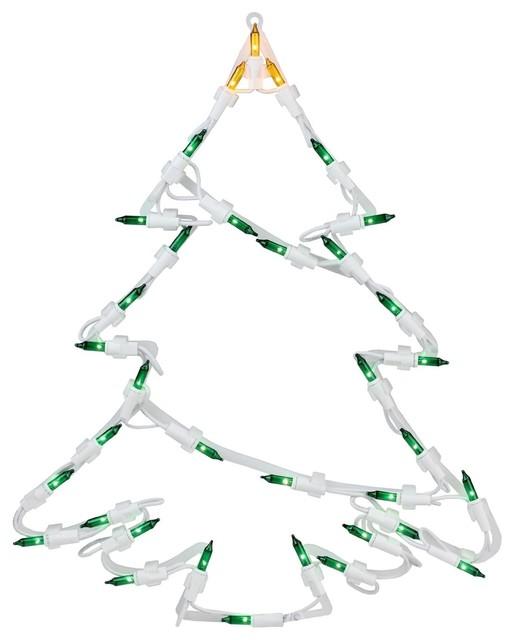 15 Lighted Tree Christmas Window Silhouette Decoration.